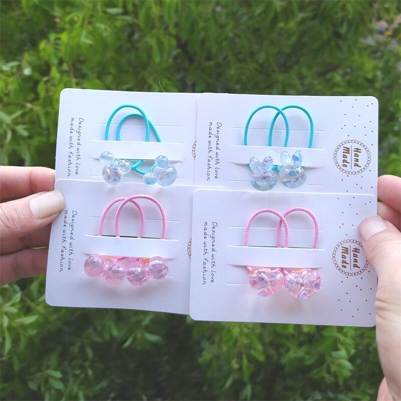 2 pçs bonito flash lantejoulas bowknot princesa headwear dos desenhos animados crianças elásticas faixas de cabelo cordas meninas acessórios do bebê