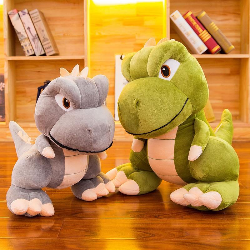 2021 New Cartoon Dinosaur Plush Toy Doll For Children Soft Plush Stuffed Animal Appease Sleeping Toys Home Decoration недорого