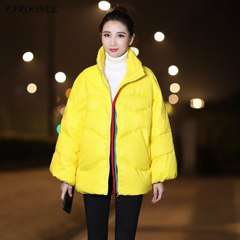 Faroonee, chaqueta gruesa de Invierno para mujer, moda 2020, abrigo ultraligero acolchado, chaquetas negras, ropa informal para mujer