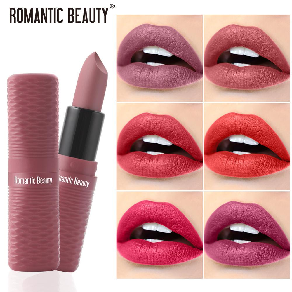 Водостойкая матовая губная помада, 8 цветов, матовая губная помада для женщин, пигменты для макияжа, красота, нюдовая, стойкая губная помада ...