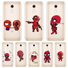 Deadpool teléfono caso para Xiaomi Redmi S2 4 4A 4X 5A 6 6A 5 Plus teléfono móvil F1 Redmi Note 4 funda trasera de silicona 4X5 5A 6 Pro Prime