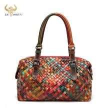 Colorful Natural Real Leather Famous Brand Luxury Ladies Patchwork Large Purse Handbag Shoulder bag