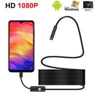 Новинка 1080P HD Mini Android Endoskop Kamera IP67 1920*1080 1 м 2 м 3 м 5 м micro USB Inspektion Video Kamera Schlange Endoskop Rohr