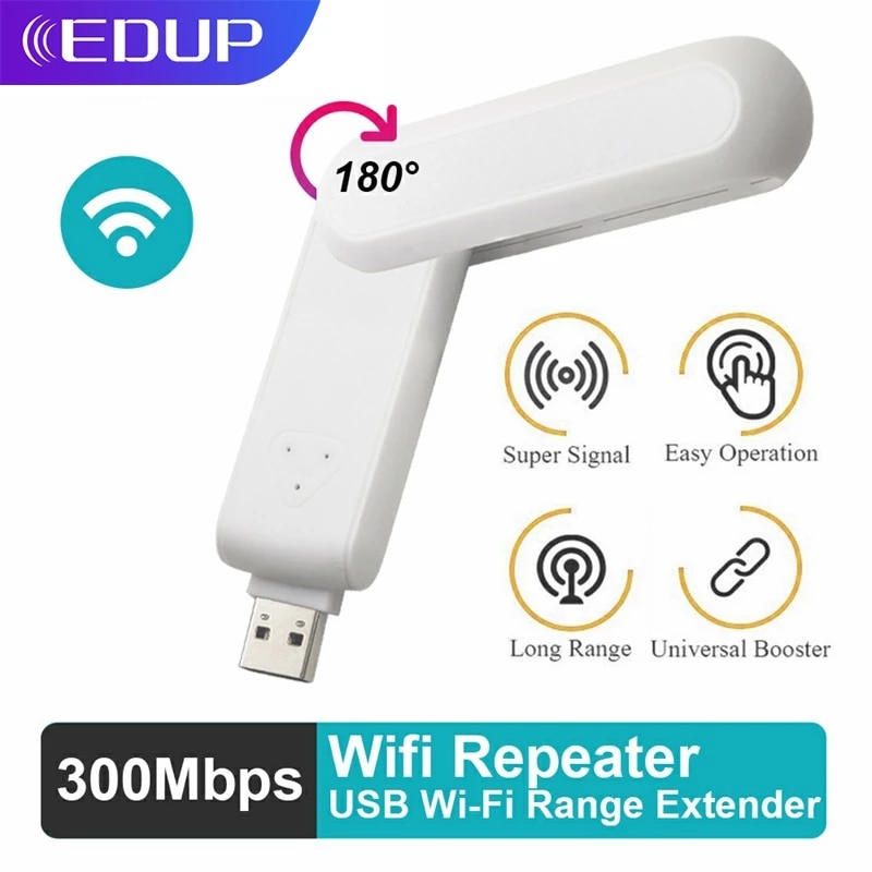 EDUP USB WiFi Extender USB2.0 Port WIFI Repeater Wireless Network Amplifier Booster Wi-Fi Ultraboost Repiter for WIFI-Router