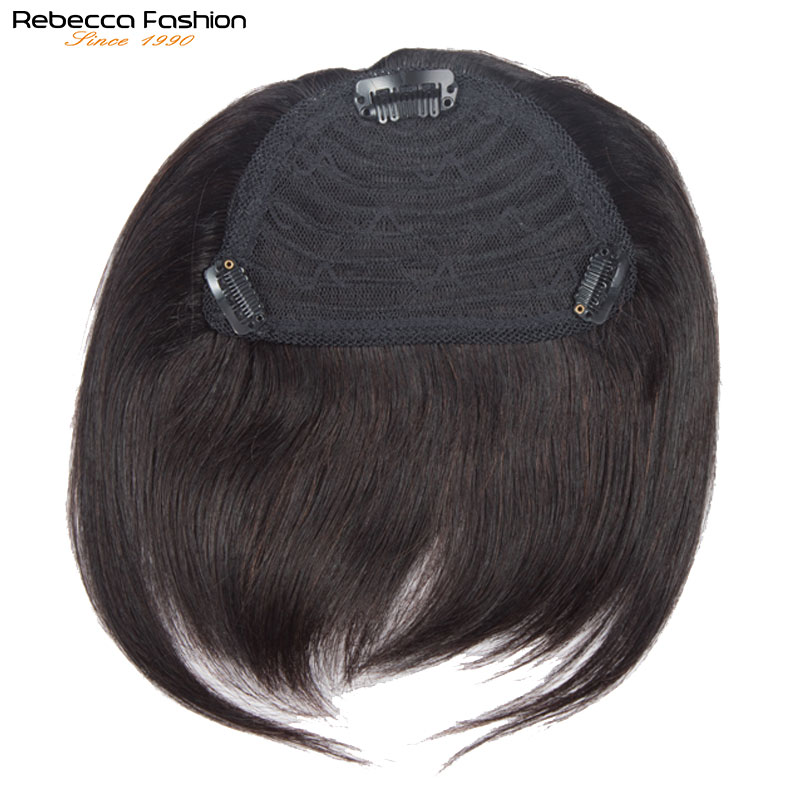 Clip In Human Hair Bangs Full mechanism Made Fringe Hair Pieces Brazilian Straight Remy Hair Toupees Toppers For Hair Loss
