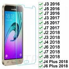 Verre trempé sur le pour Samsung Galaxy J3 J5 J7 2015 2016 2017 protecteur décran pour Samsung J2 J8 J4 J6 2018 Film de Protection