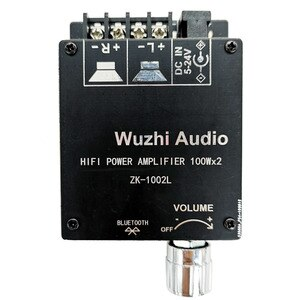 Image 3 - ZK 1002L 1002 100WX2 TPA3116 Мини Bluetooth 5,0 Беспроводной аудио Мощность цифровой усилитель доска стерео ампер постоянного тока 12V 24V