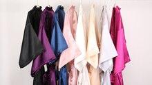 C & Fung nowa seksowna pani zwykły szata damska satynowa krótka Kimono suknia ślubna szlafrok jedwabiste piżamy szlafrok szaty S-XXL