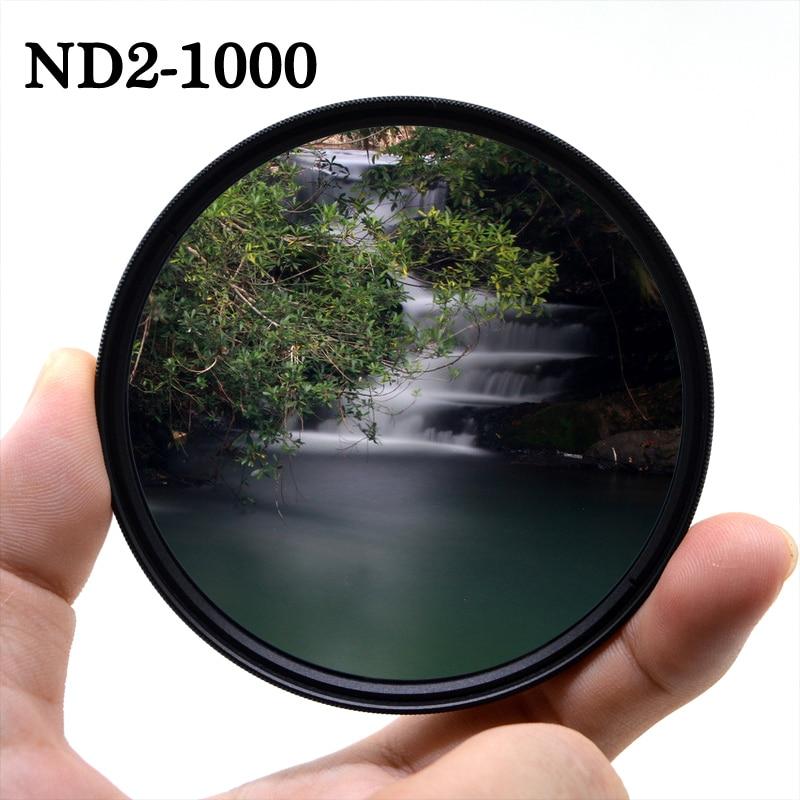 Фильтр для объектива камеры KnightX ND2-ND1000 с регулируемой нейтральной плотностью canon sony nikon 49 мм 52 55 58 67 77