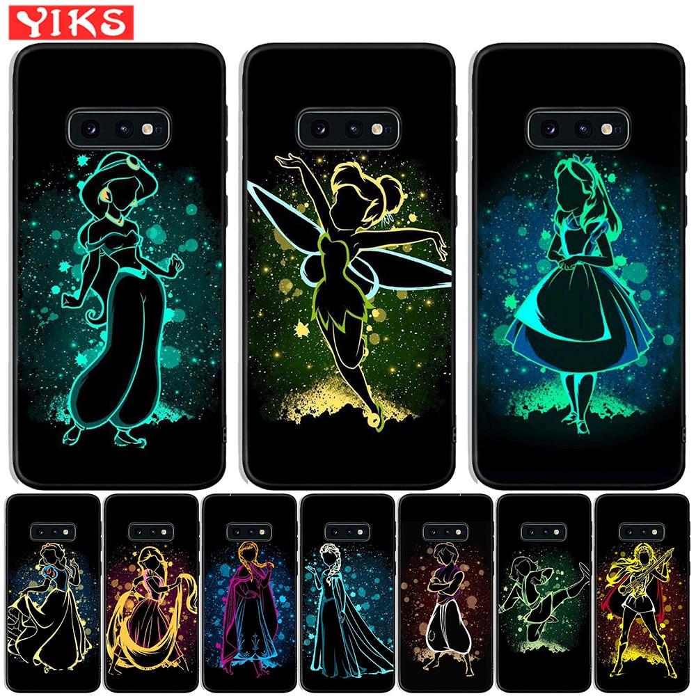 Rainha Princesa Alice Ariel Capa Samsung Galaxy S10e S10 Plus S9 S8 Plus Para Samsung Nota 8 9 S7 borda Capa de Silicone Coque