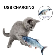 Moving Fish Cat Toy Electronic Cat Toy Simulation Fish Toys with Catnip Toy  for Cats Pet Playing To