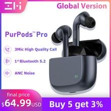 Black Global Version ZMI PurPods Pro Bluetooth Headphones Wireless 5.2 Bluetooth Earphones Waterproo