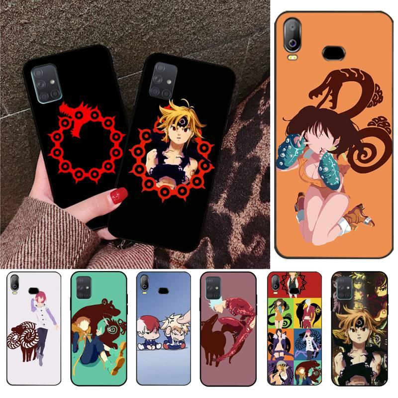 Sete Pecados capitais Meliodas Design Tampa Do Telefone Para Samsung Galaxy A01 A11 A31 A81 A10 A20 A30 A40 A50 A70 A80 A71 A91 A51