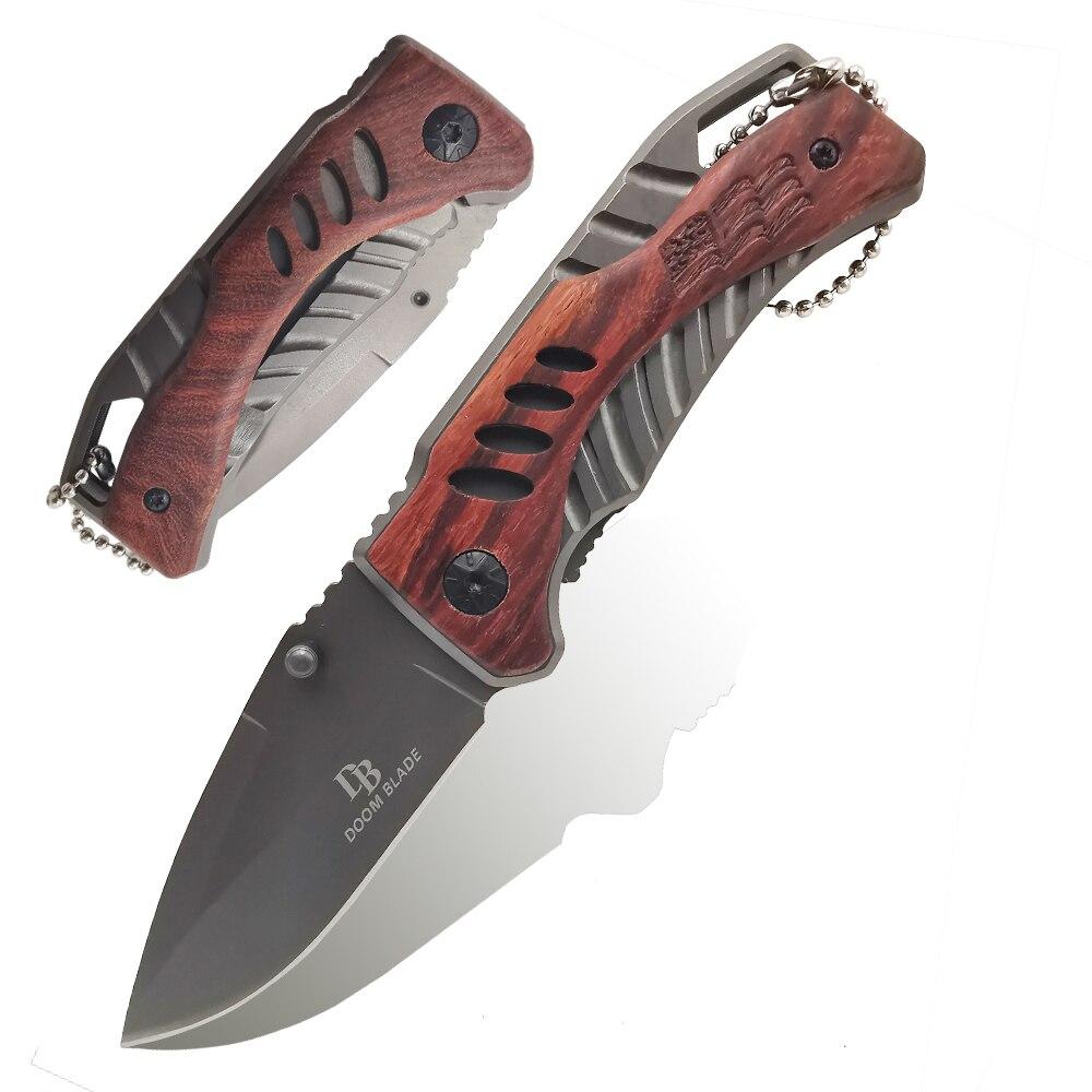 155mm (6,1 ) 56HRC bolsa plegable cuchillo llavero cadena fruta Camping supervivencia al aire libre EDC inoxidable 5Cr13 cuchillos de hoja