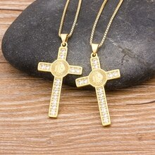 Neue Ankunft Dropshipping 10 Styles Strass Jesus Kreuz Anhänger Für Männer Frauen Gold Kette Halskette Feinen Party Hochzeit Schmuck