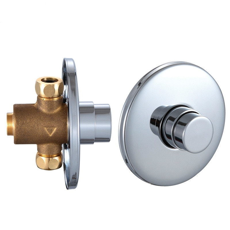 Brass Concealed Urinal Valve Flush Delay Shower Switch Antique Faucet Water-tap Outdoor