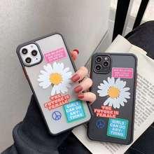 INS élégant corée daisy étiquette doux clair étui en Silicone fille puissance pour iPhone 7 8X11 Pro MaX XR XS Max couverture de mode