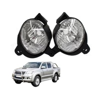 for toyota hilux 2008 2016 fog lamp with bulb car lens cover auto shell fog lampshade lamp light cover car accessories