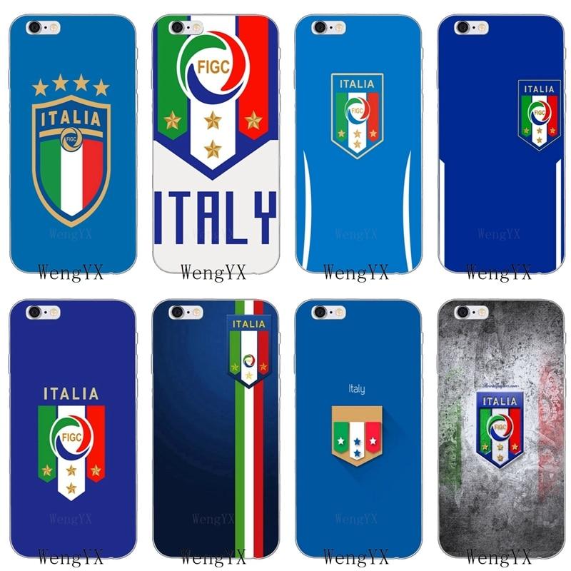 Logotipo del equipo de fútbol italiano para iPhone 11 Pro XS Max XR X 8 7 6 6S Plus 5 5S SE 4S 4 iPod Touch funda suave para teléfono