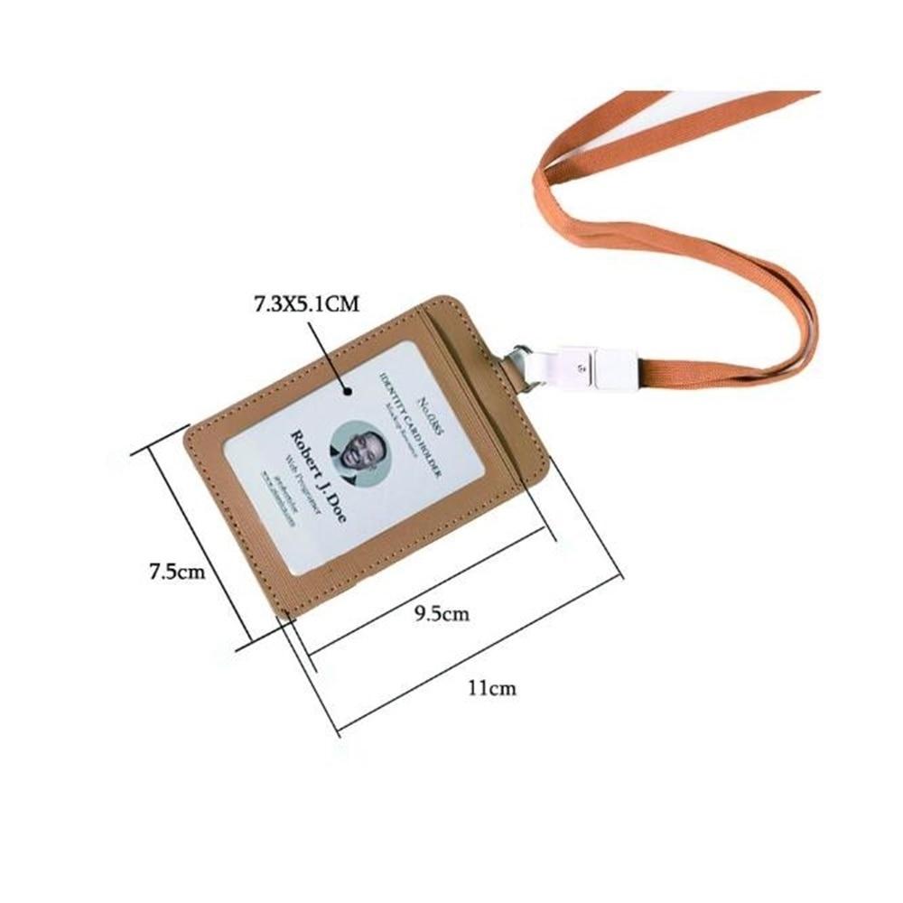 Высококачественный бейдж из искусственной кожи с именной биркой, бейдж для визиток, бейдж для визиток со шнурком