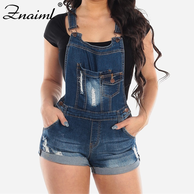 Znaiml Summer Rompers Women Jeans Jumpsuit Large Size Loose Casual Denim Womens Playsuits Wide Leg Overalls