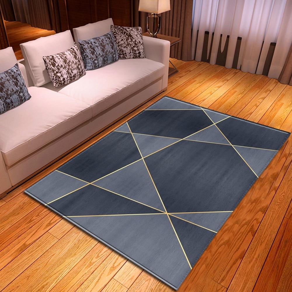 هندسية الطباعة سجادة غرفة معيشة غرفة نوم السرير الديكور السجاد الحديثة المنزل ثلاثية الأبعاد غرفة الأطفال الممر حصيرة كبيرة غير sl