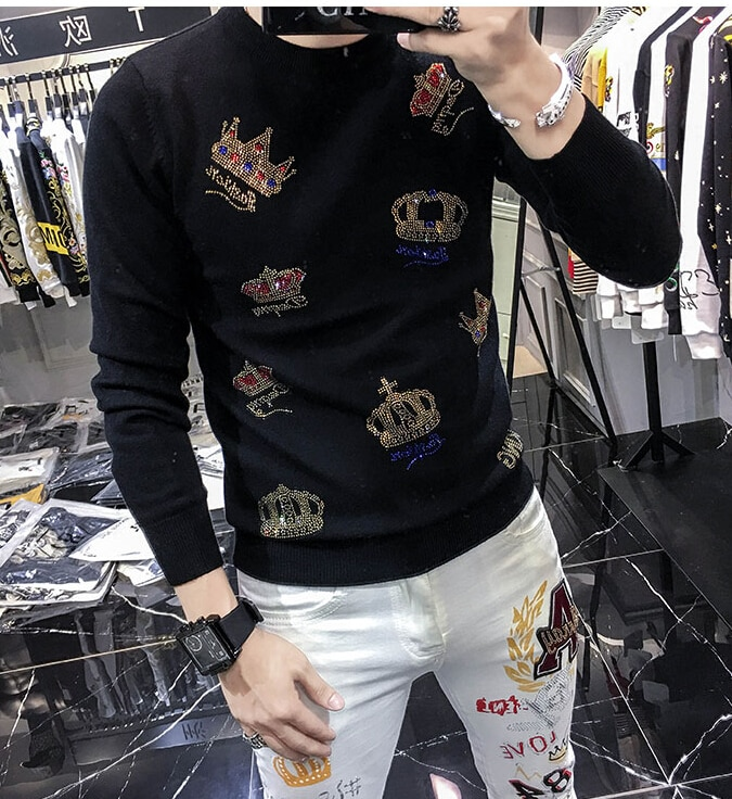 2020 outono inverno novo pulôver masculino casual o-neck jumper suéter masculino pull homme