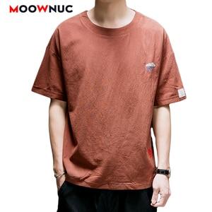 T-Shirts Streetwear 2021 New Hip Hop Summer Short Sleeve Cotton Loose Printed Trendy T-Shirt MOOWNUC Thin Brand Men's Clothes