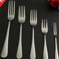 6 pcsset stainless steel fork mirror polishing snacks cake fruit salad steak cutlery dessert fork kitchen dinnerware