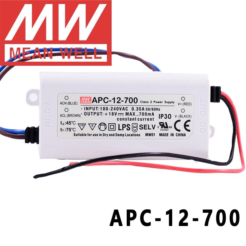 Original Mean Well APC-12-700 meanwell 700mA Konstante strom 12W Einzigen Ausgang FÜHRTE Schalt Netzteil