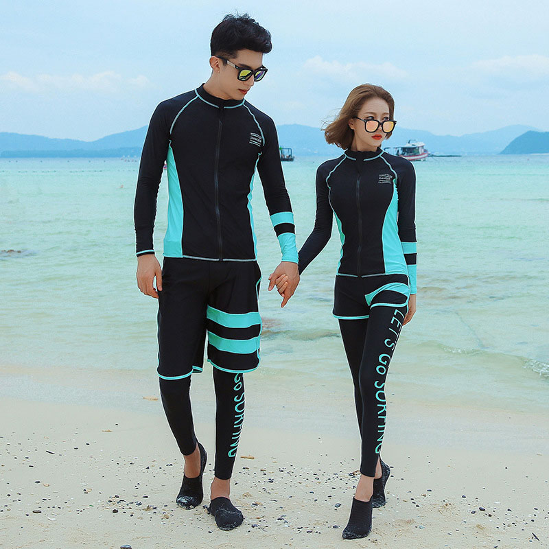 2020 traje de baño de cuerpo completo para hombre/mujer, ropa de Surf de manga larga, conjunto de protección solar UV, ropa deportiva para correr y hacer Yoga
