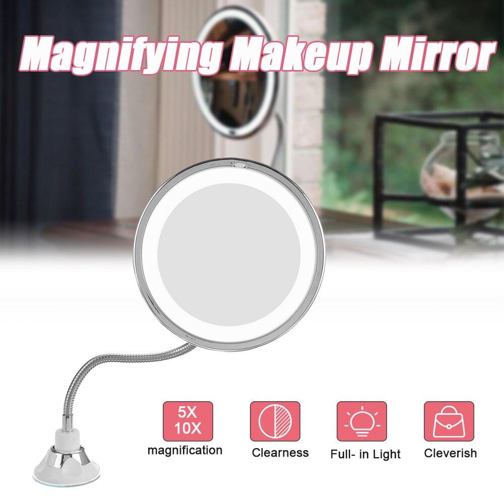 10X/5X LED Mirror Makeup Mirror for Women Lady Girls Foldable Vanity Mirror Magnifying Miroir LED Miroir Magnifying