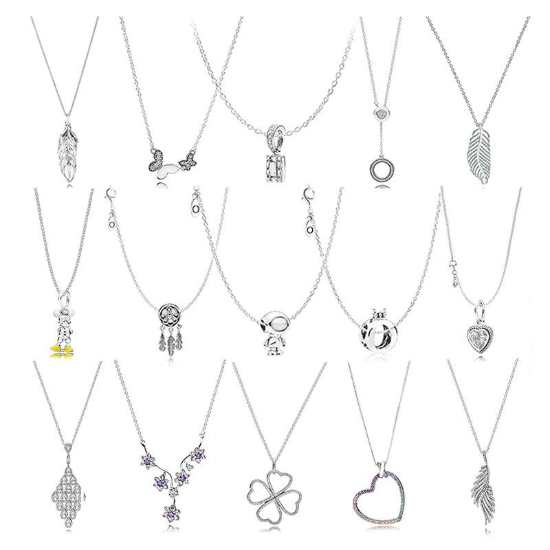 PDB XL 03 100%, colgante de plata de ley 925, colgante de plata con abalorio en cascada de corazón original de invierno, colgante de plata con logotipo femenino