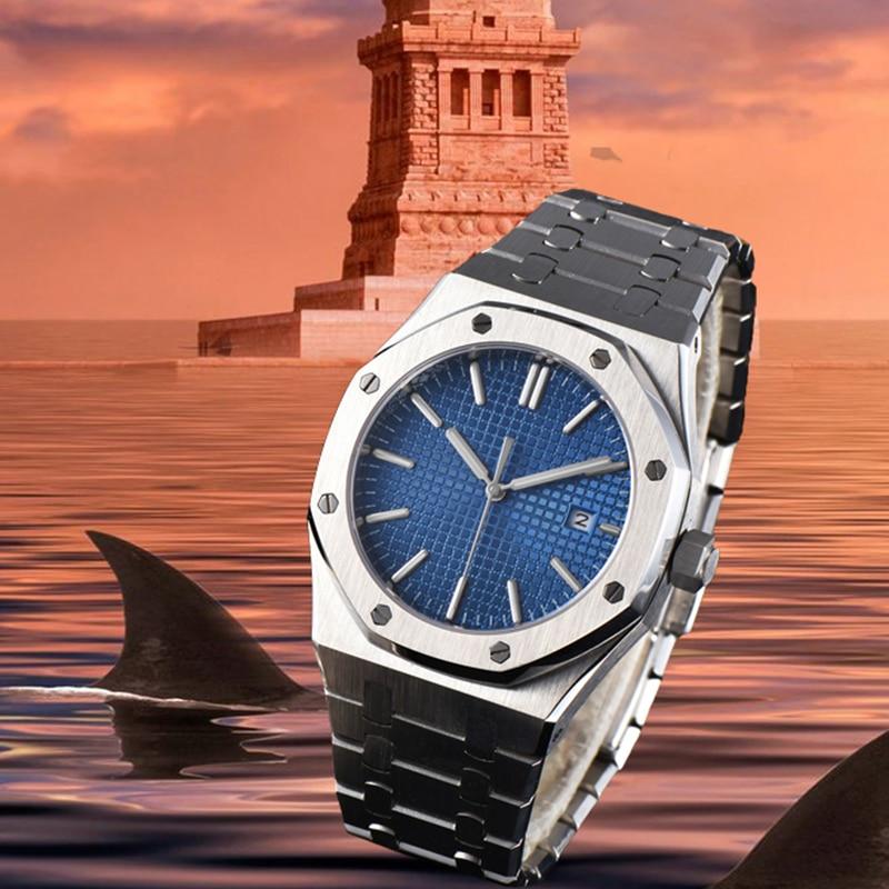 Luxury Automatic Mechanical Sports Men's Watch 41mm Military Sapphire Mirror Stainless Steel Bracelet Men's Business Watch