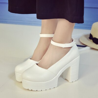 Leather Platform Shoes Women Spring Autumn 2020 New Arrival Designer Black Fashion Ladies Flats Shoes Woman Harajuku Big Shoes