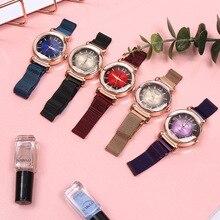 Neue klassische uhr Mode wilden uhr Milan Magnet Schnalle Luxus neue Mode Damen Geometrische Römische Ziffer Quarz bewegung Uhr