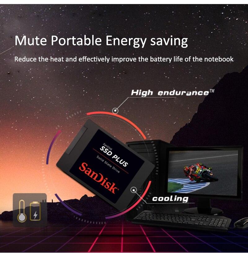 Sandisk SSD Plus 480GB 240GB Sata 3 Hard Drive Laptop Internal Solid State Drive Hard Disk 120GB SATA 3 SSD 1TB Internal Laptop enlarge