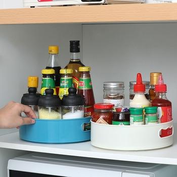 Кухонный поднос с вращением на 360 градусов, кухонные контейнеры для хранения специй, закусок, фруктов, тарелка для еды, нескользящий поднос для хранения сушеных продуктов в ванной комнате