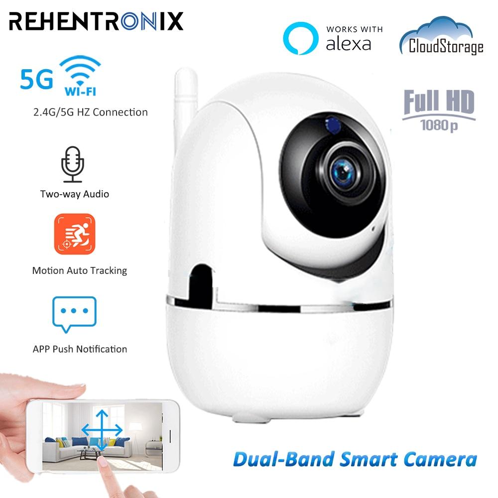 1080P كاميرا IP صغيرة PTZ 5G واي فاي داخلي AI تتبع كاميرا مراقبة فيديو اتجاهين الصوت كاميرا الأمن اليكسا مراقبة الطفل