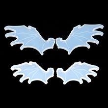 Bonito mal asas de anjo pingente silicone resina molde jóias fazendo ferramentas arte artesanato t4md