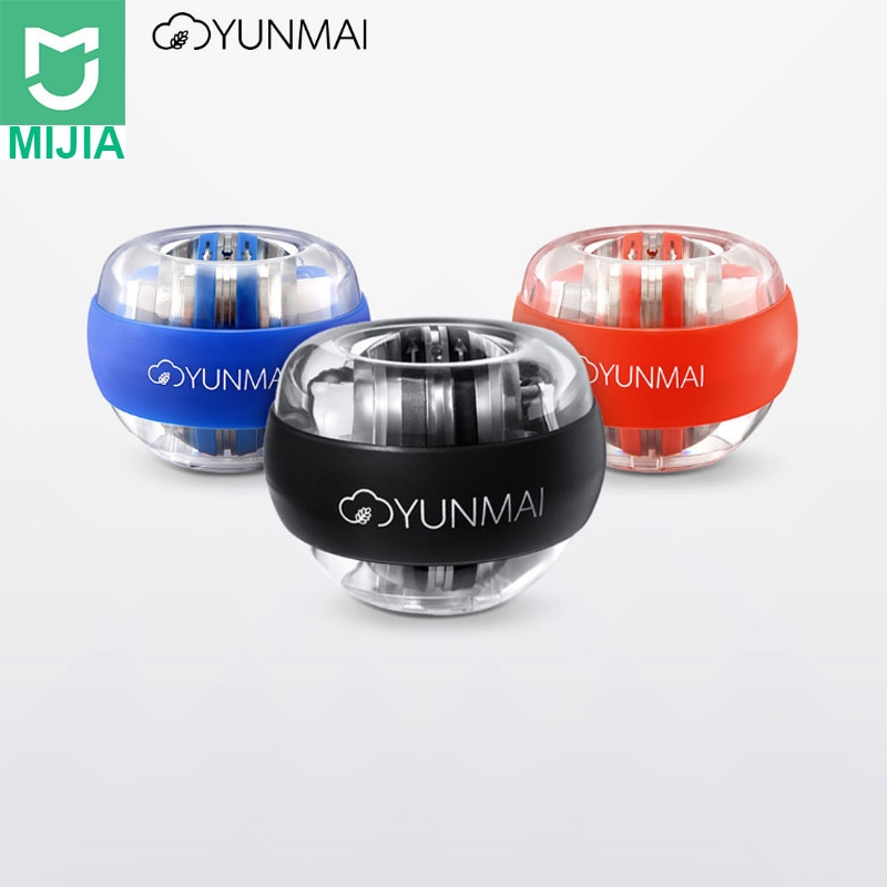 2020 new Xiaomi Mijia Yunmai Anti-stress Wrist Trainer LED Gyroball Essential Spinner Gyroscopic Forearm Exerciser Gyro Ball