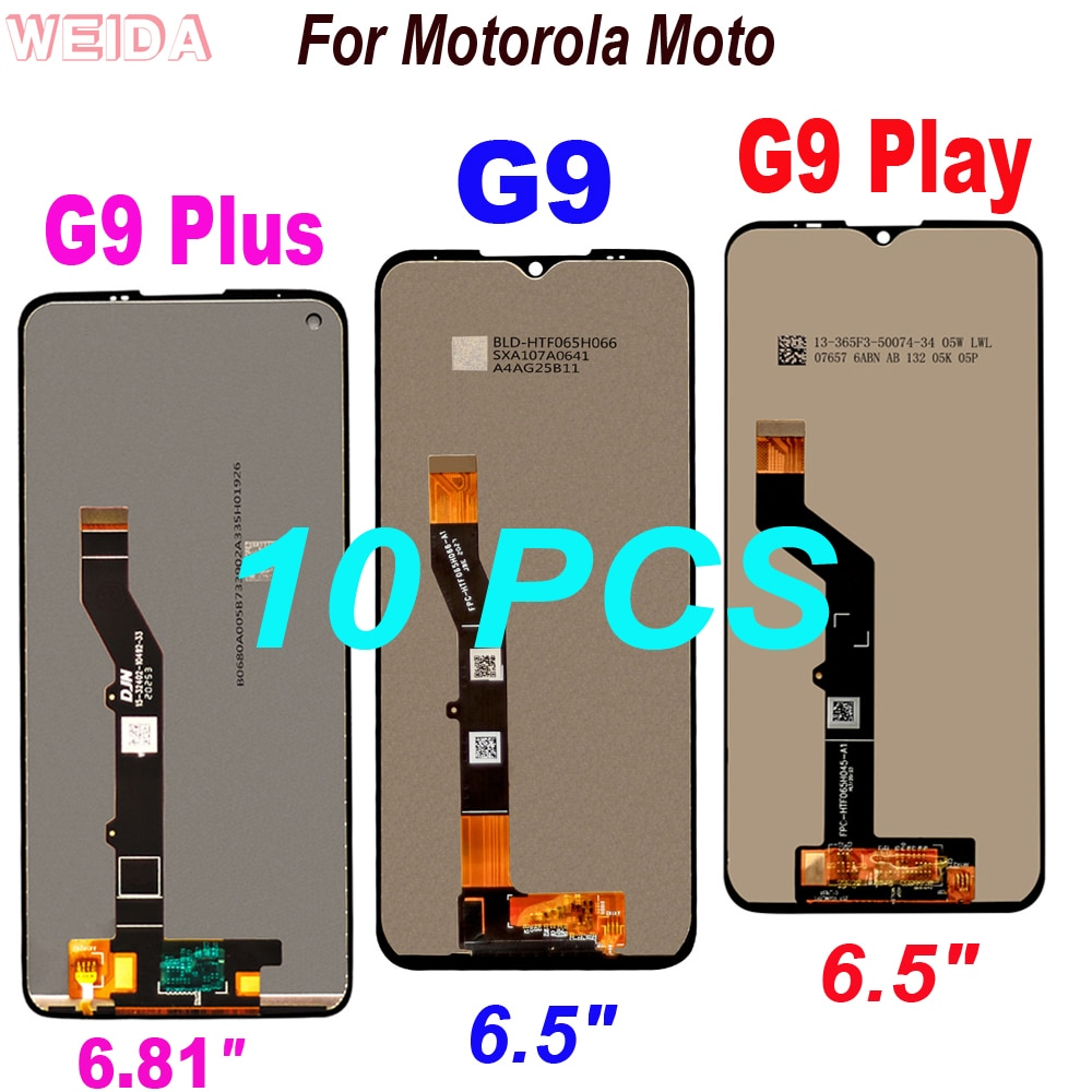 مجموعة شاشة LCD تعمل باللمس ، تم اختبارها ، لهاتف Motorola Moto G9 Plus ، 10 قطعة ، أصلي ، جديد