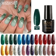 MIZHSE 7ml UV Gel vernis à ongles or Rose brillant paillettes imbiber ongles peints UV LED Gel Art des ongles bricolage vernis à ongles