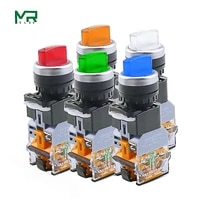 la38 11xd2 rotary push button switch with lamp 22mm 2 position 3 position latching led knob switches multicolor optional