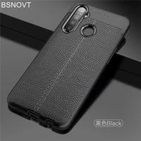 for oppo realme q case shockproof soft silicone luxury leather phone case for oppo realme q cover for oppo realme q 6 3 bsnovt