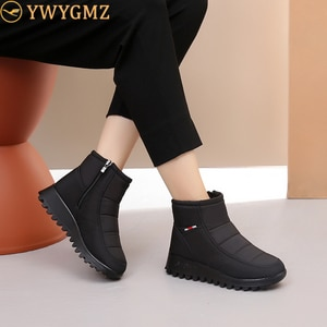 Women Boots 2020 New Winter Boots Female Fashion Snow Boots Women Plush Insole Antislip Waterproof Ankle Boots Zapatos De Mujer