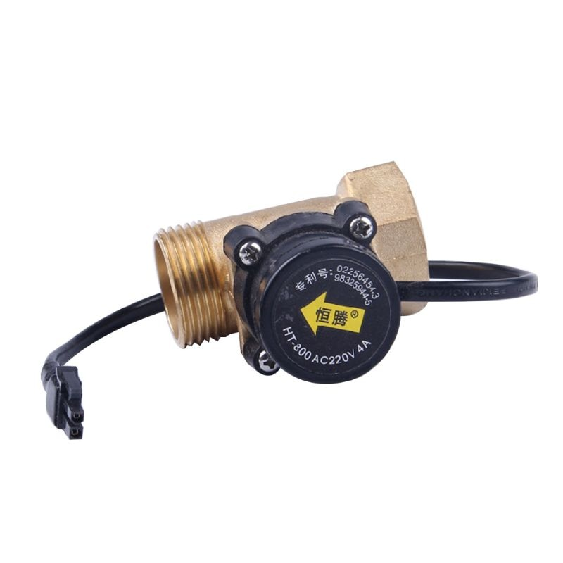 "HT-800 1"" Water Flow Sensors Switch 220V 4A Liquid Paddle Pump 649E"