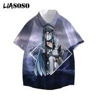 liasoso akame ga kill 3d printed shirt japanese anime harajuku streetwear casual short sleeve men women oversize tops