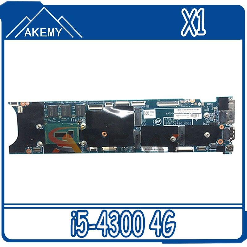 ثينك باد مناسبة ل X1 الكربون 2nd الجنرال i5-4300 4G دفتر اللوحة الأم. FRU 00UP975 00HN777 00HN765 04X5588 04X6405 00UP976