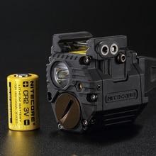 Nitecore NPL10 300Lms Universal Subcompact Red Laser Pistol Light Torch CREE XP-G2 S3 LED Weapon Lig